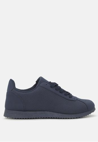 London Rag 海軍藍色 缕空休闲运动鞋 B8E3BSH4C4AE0BGS_1