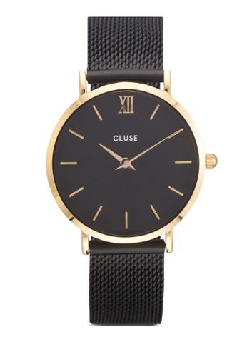 Minuit 網眼圓框手錶, 錶類, 飾品配esprit outlet尖沙咀件