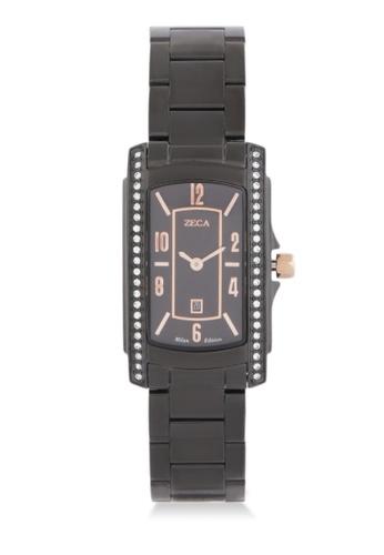 ZECA black Zeca Watches Ladies Fashion Stainless Steel Analog - 1008LA Black ZE074AC0WDA9ID_1