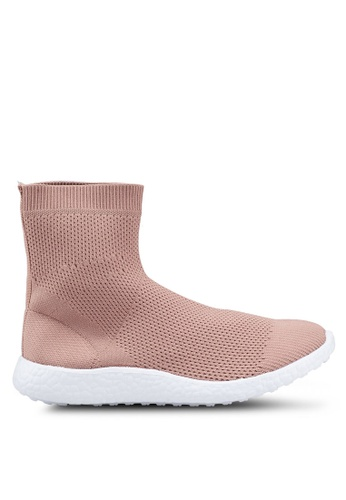 Carlton London 紫色 雙色襪靴 77D50SHFBE5B93GS_1