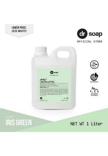 dr soap green dr soap Hand Antiseptic Gel Iris Green 1 Liter (Refill) 5B429ES53AB326GS_1