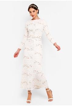 5c74082f2f9 Zalia white Embroidered Floral Column Dress 26E3AAADB605AAGS 1