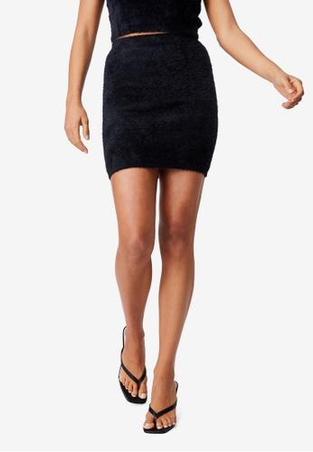Supre black Melissa Co Ord Fluffy Skirt E6E2CAA537B490GS_1