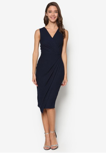 裹飾V 領無袖連身esprit 台北裙, 服飾, Dress To Impress