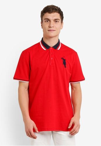 BGM POLO red Tipping Polo Shirt BG646AA0S0JUMY_1