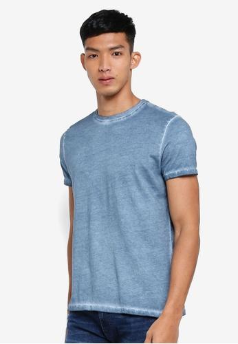 OVS 藍色 休閒素色T恤 D1CD9AACC636ACGS_1