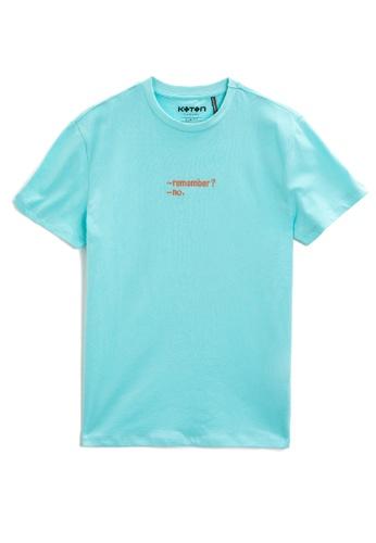 KOTON green Embroidery T-Shirt EC030AA41E34FAGS_1