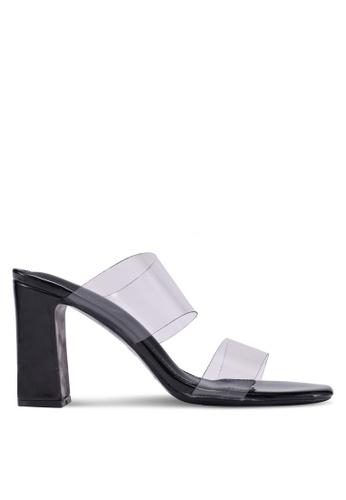 Something Borrowed 黑色 透明粗跟鞋 7FD2CSHEB42F62GS_1