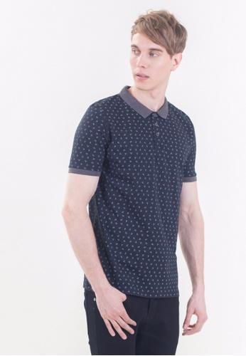 Drum grey Short Sleeve Polo Shirt -BLK DR425AA88RIPMY_1