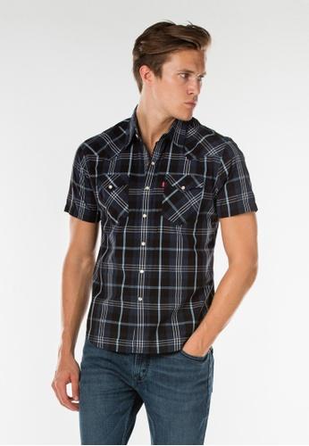 Levi's blue Levi's Classic Short Sleeve Western Shirt (Blue) LE815AA0SBCPMY_1