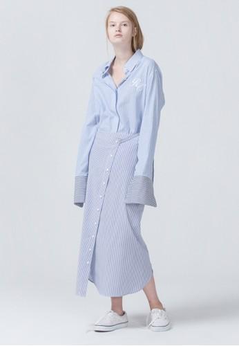 超長袖esprit outlet hk襯衫, 服飾, 印花時代