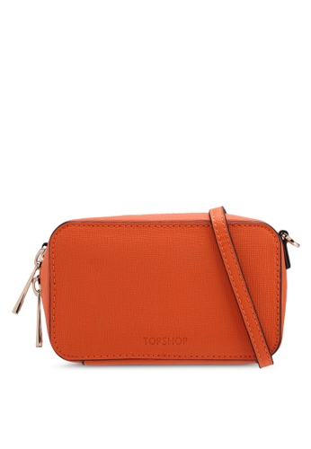 TOPSHOP orange Onara Crossbody Bag 49501AC798EB22GS_1