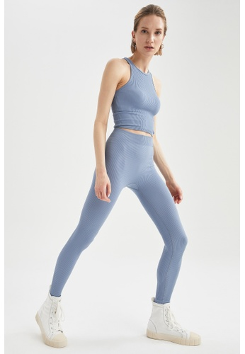DeFacto blue Woman Knitted Trouser 280D2AAD6981F8GS_1