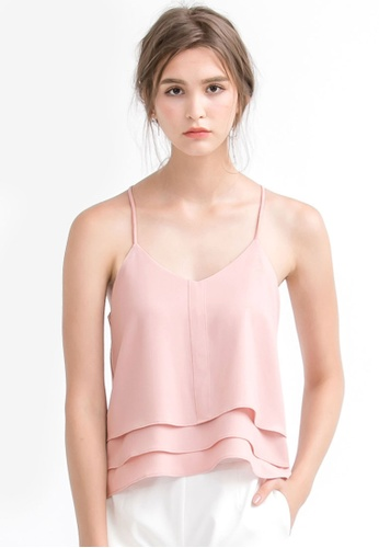 Kodz pink Layered Cut-Out Camisole 903ADAAAFC8A03GS_1