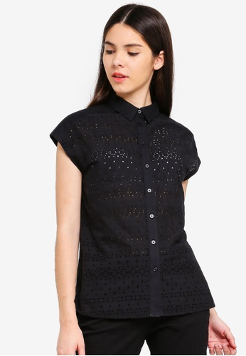 4634b0312c0ee3 Buy United Colors of Benetton Broderie Anglaise Shirt | ZALORA HK