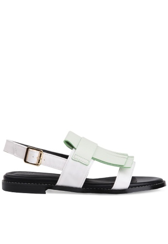 SPUR white Jelow_Fringy Curtain Sandals SP642SH2UL07HK_1