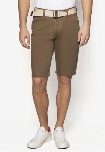 腰帶休閒短褲, 服飾esprit服飾, 服飾