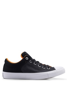 8856c07e Converse black and grey and orange Chuck Taylor All Star High Street Beach  Flow Ox Sneakers