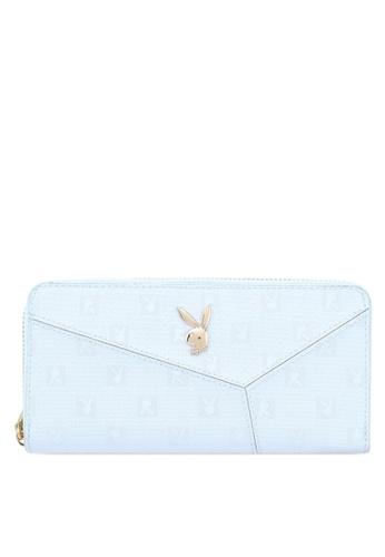 PLAYBOY BUNNY blue Playboy Bunny Ladies Zipper Purse 17907AC47CC1C9GS_1