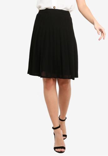 FORCAST black Lydia Pleated Skirt 0DCD4AA153B5BBGS_1