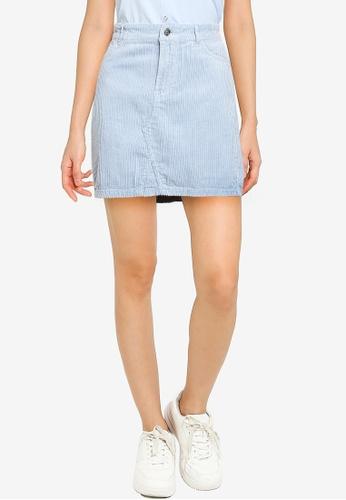 ONLY blue Sky Regular Corduroy Skirt 848E7AAF4D4A04GS_1