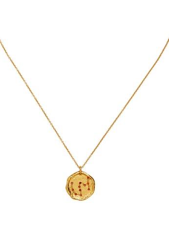 Mango gold Scorpio Horoscope Necklace D0815ACB5C7309GS_1
