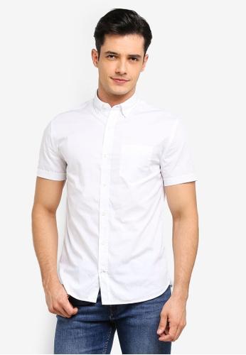 MANGO Man 白色 質感襯衫 7AF36AA9B34DC6GS_1
