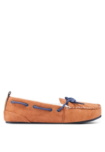 Superdry brown Clinton Moccasin Slippers 0EFAFSHC9BC6E4GS_1