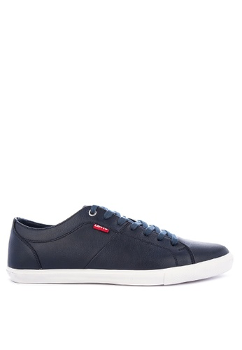 Levi's navy WOODS PU Sneakers 3756ASH16E3A11GS_1