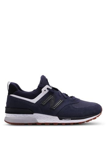 New Balance navy 574 Sport Lifestyle Sneakers 51D1ASHF81B5EDGS_1