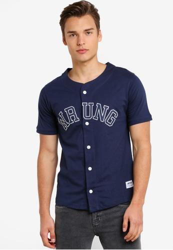 Wrung navy Hitman Shirt WR395AA75MQAMY_1