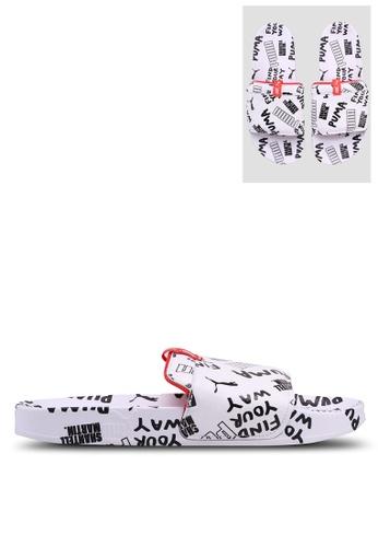 Puma Select white Puma x Shantell Leadcat Graphic Sandals 946DDSHBD9AA1DGS_1