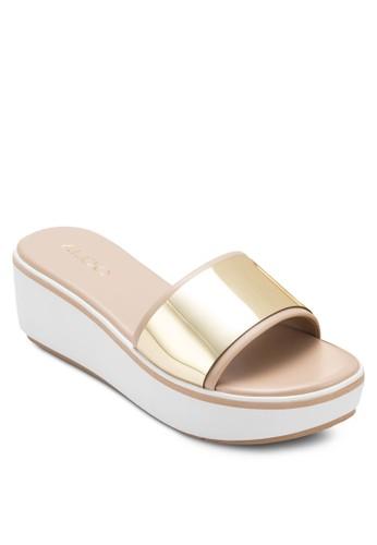 Leeder 寬帶厚底涼鞋, 女鞋, 楔zalora 手錶形涼鞋