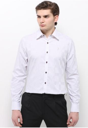 POLO HAUS multi Polo Haus - Woven Shirt (White/Brown) PO783AA47BKAMY_1