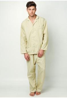 Daichi Stripes Flannel Pajama Set