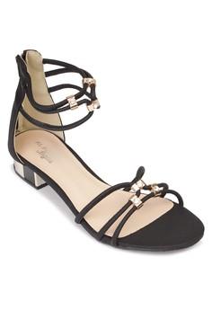 Zipper Heel Sandals