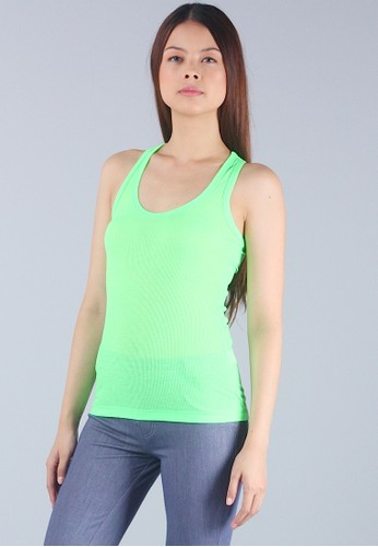 Neon Green Racer Back Basic Tank Top