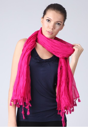 Fuschia Twisted End Scarf