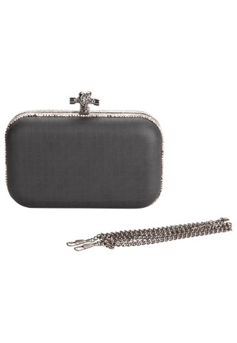 Python Trim Hard Case Clutch