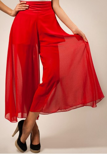 Sheer Wide Leg Pants