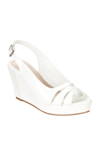 Sole Nice Peep Toe Sling Back Wedges
