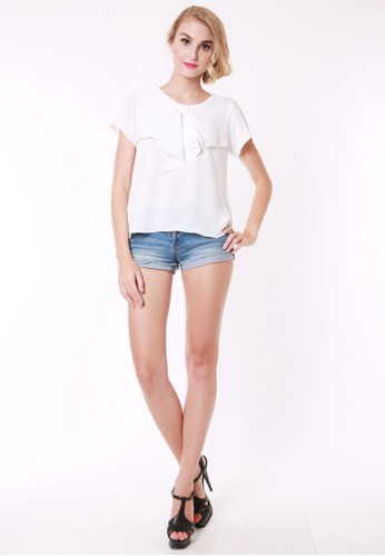 Zalora White Blouse 74