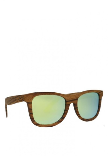 Eyeglass Frame Zalora : ZebraWood Frame, Golden Yellow Lens, 140mm Wooden ...
