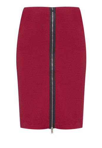 Zalora collection zip through midi skirt for Housse zip collection captur