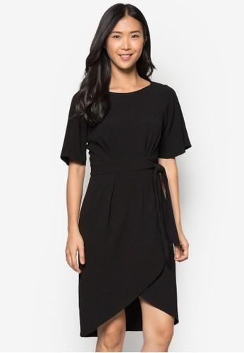 裹式繫帶連身裙 - 253922