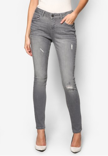 Grey 'Casey' Relaxed Skinny Jeans - 263070
