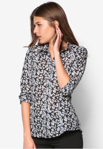 Navy Ditsy Floral Shirt - 263107