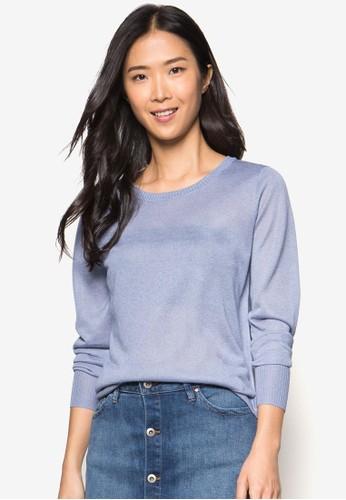 基本寬素色長袖衫 - 258337