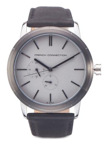 Clarke FC1261BE 真皮圓框手錶