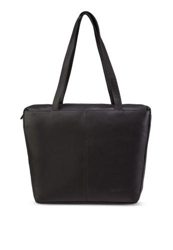 皮革購物肩背包 - 232943